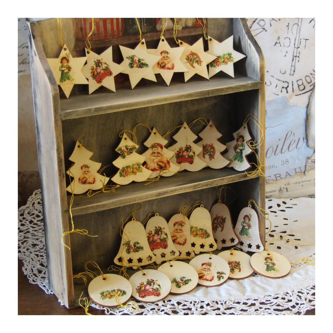 handmade4u vintage 24 holzanh nger weihnachten anh nger. Black Bedroom Furniture Sets. Home Design Ideas