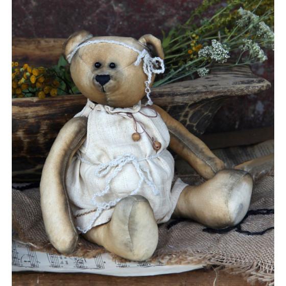 Unikat shabby für einen ca 30-32 cm Bär oder Puppe Traumkleid Handarbeit