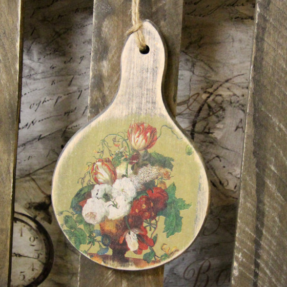 Holzbrettchen Rund handmade4u vintage holz brettchen frühstück brett dekoration