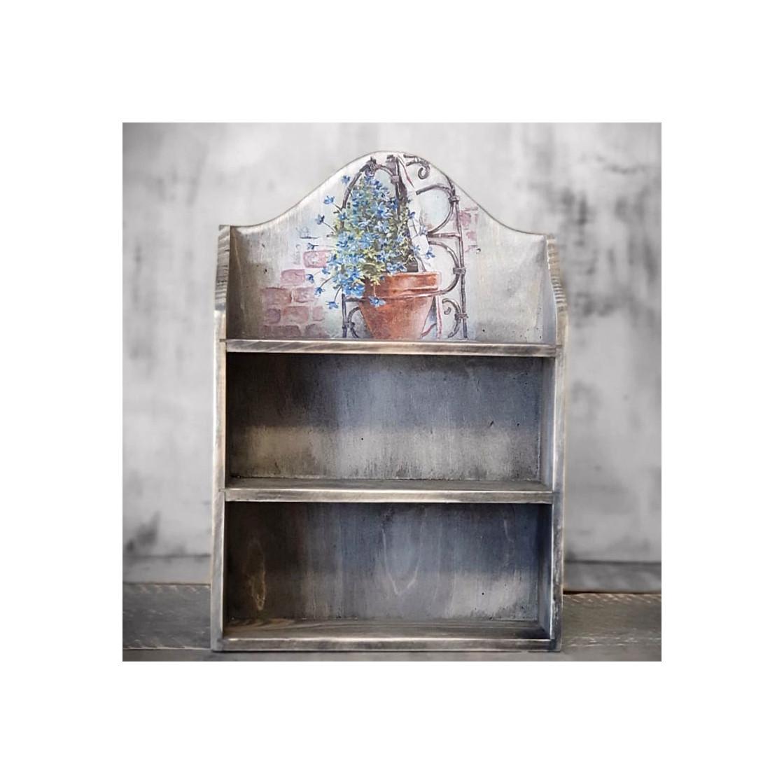 handmade4u | vintage wandregal miniregal holz gewürzregal ablage