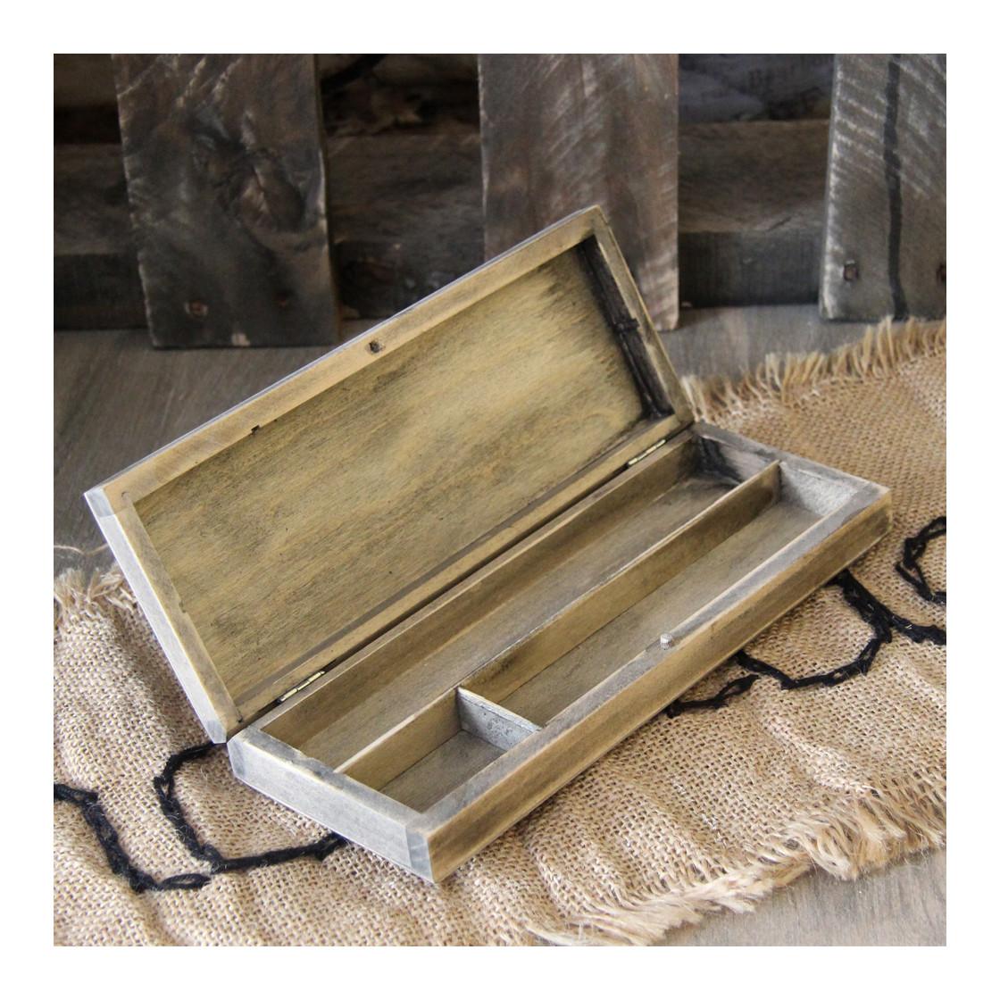 handmade4u vintage holz federk stchen federm ppchen federmappe grif 12 99. Black Bedroom Furniture Sets. Home Design Ideas