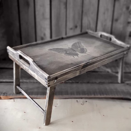 Frühstückstablett handmade4u vintage frühstückstablett tablett serviertablett bett o